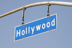 Hollywood Blvd Street Sign 2 Royalty Free Stock Photography