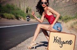 Hollywood bondissent Photo libre de droits