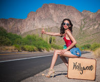 Hollywood bondissent Photographie stock libre de droits