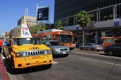 Hollywood boulevard royaltyfria foton