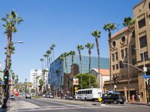 Hollywood boulevard royaltyfri fotografi