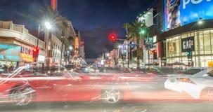 Hollywood boulevard at dusk time Stock Photography