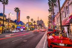 Hollywood boulevard Kalifornien arkivfoton
