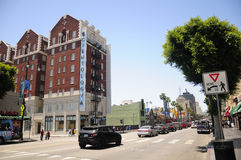 Hollywood boulevard Kalifornien royaltyfri fotografi