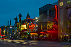 Hollywood Boulevard at Night royalty free stock photo