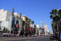 Hollywood Boulevard. One of the top destinations in Los Angeles, California, lined with many Hollywood movie attractions Stock Photo