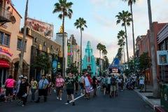Hollywood boulevard på Disney Hollywood studior royaltyfri foto