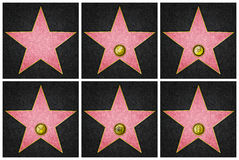 Hollywood Boulevard Stars. Blank Hollywood marble stars, from Hollywood Boulevard Stock Photo