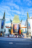 Hollywood boulevard View Grauman's Chinese Theater on Hollywood Boulevard Royalty Free Stock Images