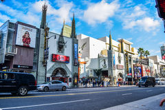 Hollywood boulevard View Grauman's Chinese Theater on Hollywood Boulevard Royalty Free Stock Photo