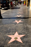 The Hollywood Boulevard Walk of Fame Stock Photo