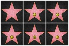 Hollywood Boulevardstjärnor Arkivfoto