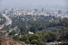 Hollywood Bowl och motorväg 101 royaltyfria bilder