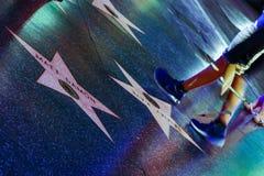 Hollywood bulwar, gwiazdy na bulwarze sławni artyści zdjęcia stock