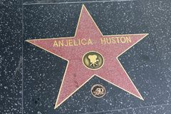 Anjelica Huston on the Hollywood Walk of Fame Royalty Free Stock Photos