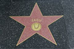Sabu star on the Hollywood Walk of Fame Royalty Free Stock Photo