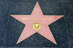 Anthony Perkins star on the Hollywood Walk of Fame Stock Photography