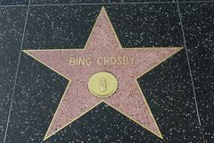 Bing Crosby star on the Hollywood Walk of Fame stock photography