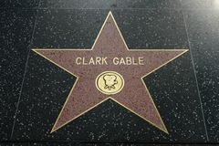 Clark Gable star on the Hollywood Walk of Fame stock image