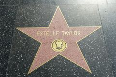 Elizabeth Taylor star on the Hollywood Walk of Fame stock photos