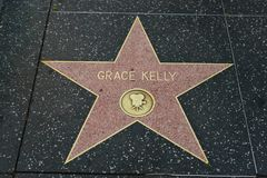 Grace Kelly star on the Hollywood Walk of Fame stock photo