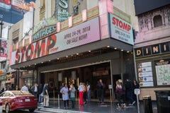 , Hollywood, CA 07-25-07 mit Touristen in der Tageszeit Lizenzfreie Stockbilder
