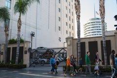 , Hollywood, CA 07-25-07 mit Touristen in der Tageszeit Lizenzfreies Stockbild
