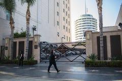 , Hollywood, CA 07-25-07 mit Touristen in der Tageszeit Stockfotografie
