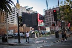 , Hollywood, CA 07-25-07 mit Touristen in der Tageszeit Stockbilder