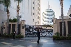 , Hollywood, CA 07-25-07 mit Touristen in der Tageszeit Lizenzfreie Stockfotos