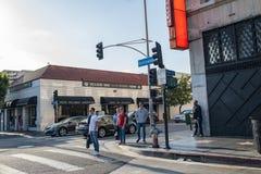 , Hollywood, CA 07-25-07 mit Touristen in der Tageszeit Lizenzfreie Stockfotografie