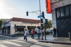 , Hollywood, CA 07-25-07 mit Touristen in der Tageszeit Stockbild