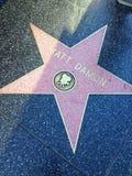 Matt Damon Hollywood walk of fame star. Stock Photography