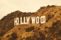 Hollywood California Retro Sign Royalty Free Stock Images
