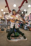 Statue of Elvis Presley. royalty free stock photography