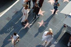 Hollywood - camminata di fama con Marilyn Monroe Fotografia Stock