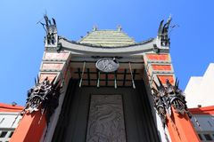 Hollywood Chinese Theatre. LOS ANGELES, USA - APRIL 5, 2014: TCL Chinese Theatre in Hollywood. Formerly Grauman's Chinese Theatre, the famous landmark dates back stock photos