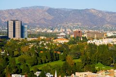 Hollywood city. And hills around it Royalty Free Stock Images