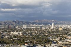 Hollywood and the City of Los Angeles Stock Photography