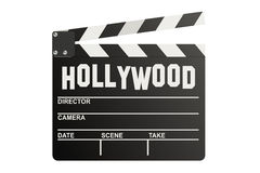 Hollywood Clapper board. Isolated on white background Royalty Free Stock Image