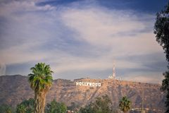 Hollywood dans l'horizon Images stock