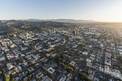Hollywood Dawn Aerial Images stock