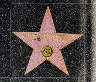 Estrela de David Copperfield do Illusionist na caminhada de Hollywood da fama imagens de stock royalty free