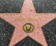 La estrella de Bugs Bunny en el paseo de Hollywood de la fama foto de archivo