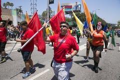 Hollywood del oeste, Los Ángeles, California, los E.E.U.U., el 14 de junio de 2015, 40.o gay anual Pride Parade para la comunidad Fotos de archivo