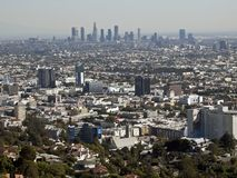 Hollywood and Downtown Los Angeles Stock Images