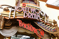 Hollywood Dream Ride and Backdrop station Stock Photo