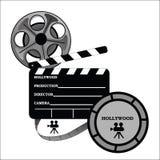 hollywood en produktiontake royaltyfri illustrationer