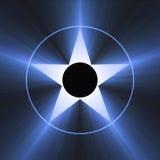 hollywood för blå berömmelsesignalljus ljus stjärna vektor illustrationer