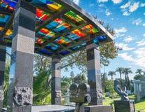 Hollywood för evigtkyrkogård - trädgård av legender royaltyfria bilder
